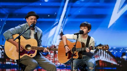 The father-and-son duo Jack and Tim from Norfolk performing on Britain's Got Talent (Tom Dymond/Syco