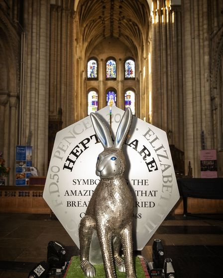The GoGoHare Heptahare was revealed at an event at Norwich Cathedral.Photo: Dave Richardson/Big Phat