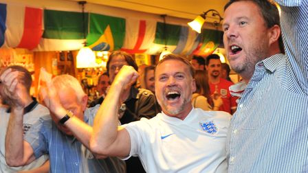 England fans will be hoping for more scenes like this from 2014 during the World Cup this summer - w