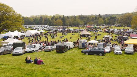 Stalls at a car boot in Norfolk. Picture: Ian Burt