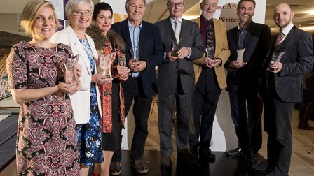 Winners in last year's East Anglian Book Awards at the presentation lunch. Entries are now open for