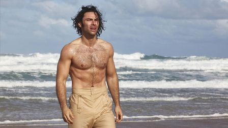 Ross Poldark in a pose which is integral to the plot- (C) Mammoth Screen - Photographer: Mammoth Sc