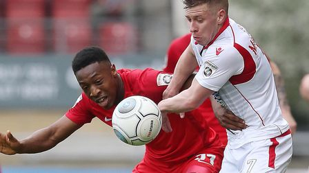 Ebou Adams has signed for Ebbsfleet following his Norwich City release. Picture: Simon O'Connor.
