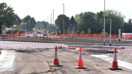 The Dereham Road/ Sweet Briar Road roundabout is closed between May28th and June1st .Picture: Nick B