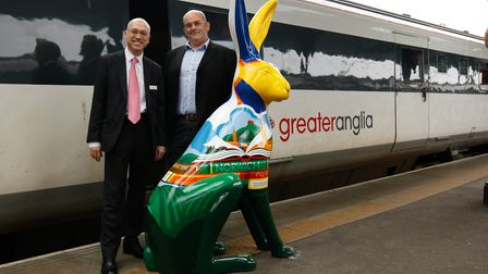 The GoGoHare Hare Comes The Sun took the 10am Greater Anglia train from Norwich to London on Friday,