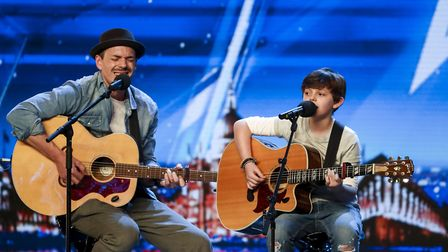 Tim and Jack Goodacre on Britain's Got Talent. Picture: Tom Dymond/Syco/Thames ITV