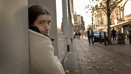 Homeless Lizzie Smith who was charged with sleeping rough by the police who used this part of the va