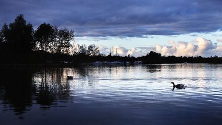 An evening view of Ranworth Broad. Picture: ANTONY KELLY