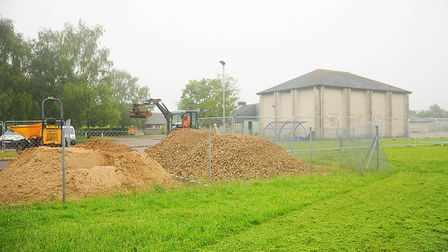 Work has begun on the 4.5m expansion at Hillcrest Primary School in Downham Market. Picture: Ian Bur