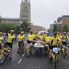 Richard Jarmy led a team of 15 around a 100-mile route around north Norfolk on ofo bikes Picture: Ri