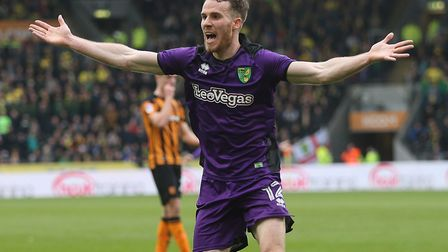 Marley Watkins appeals for a penalty during Norwich City's defeat at Hull last season - coincidental