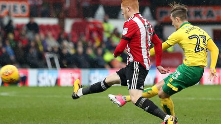 James Maddison bends home a stunning finish at Brentford Picture: Paul Chesterton/Focus Images Ltd