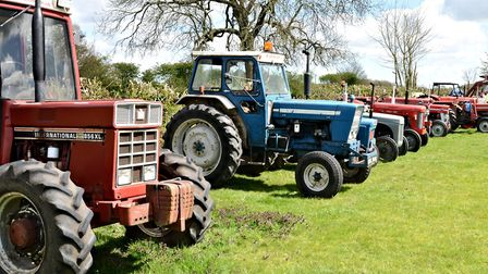 Vintage vehicles at the David Brown Tractor Club's home at the Flixton Buck, near Bungay, ahead of t