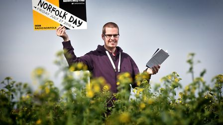 Poet Mattew Jewell who will be reading poetry for Norfolk Day.Picture: ANTONY KELLY