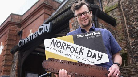 Siv Sears who is organising a cribbage tournament for Norfolk Day. He is pictured at Suckling House