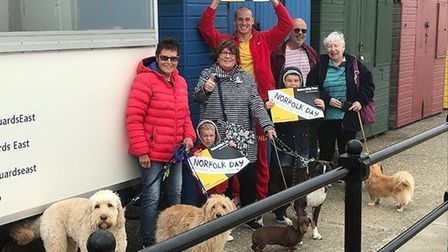 Mundesley residents who are getting ready to celebrate Norfolk Day Picture: DOREEN JOY