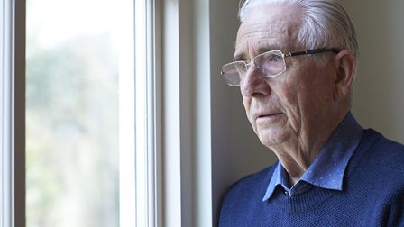 A Generic Photo of an elderly man looking lonely. See PA Feature TOPICAL Health Phillips Loneliness.