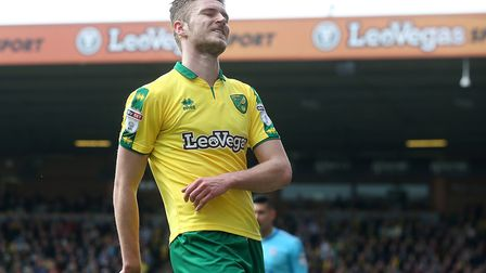 Dennis Srbeny rues one of his missed chances as he adjusted to life at Norwich City and in the Champ