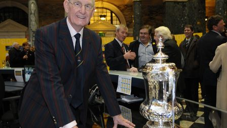 Norwich City legend and 59er Terry Allcock with the FA Cup. Picture: Sonya Duncan