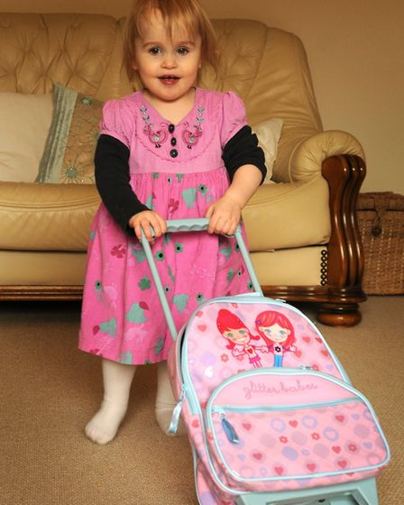 Ella-Grace Honeyman at home in Hevingham as she gets ready to head out to New York for her latest li