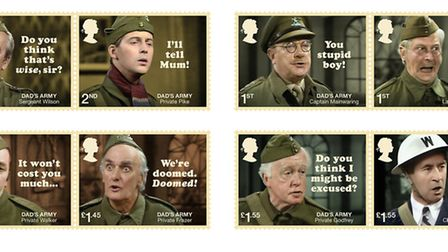The new Royal Mail Dad's Army stamps. PHOTO: Royal Mail.