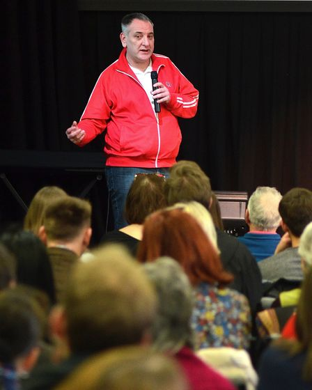 Ivan Humble at The Lowestoft Conference. Picture: MICK HOWES