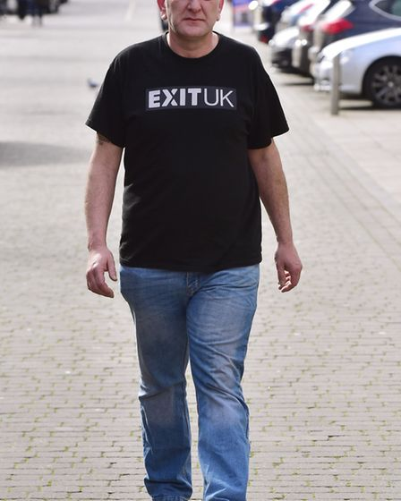 Ivan Humble, the former EDL regional organiser. Picture: NICK BUTCHER