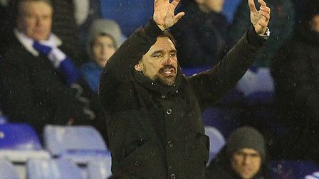 Head coach Daniel Farke on the touchline at St Andrew's during Norwich City's 2-0 win at Birmingham