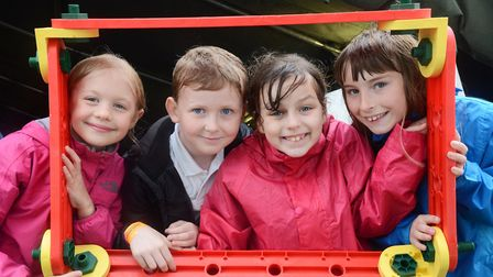 Primary school pupils in the Discovery Zone the Royal Norfolk Show. Picture: Ian Burt