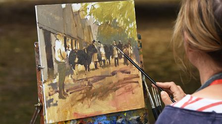 'Paint It Out' artists working at the Royal Norfolk Show 2017.Picture: Nick Butcher