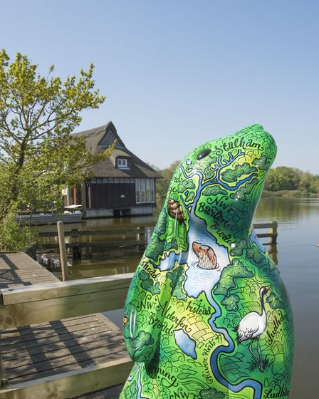 Some of the moongazer GoGoHares have been enjoying exploring Ranworth Broad ahead of taking their pl