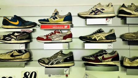 A look at Neil Featherby's extensive shoe museum, with ld shoes dating back to the 1970s reflecting