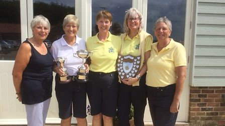 Pictured at Heacham Manor are Heather Keeble (lady president) Judy Curtis, Gill Storey, Gill McLeod