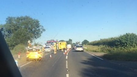 Emergency services were called to a crash near Hockering. Pic: Archant.