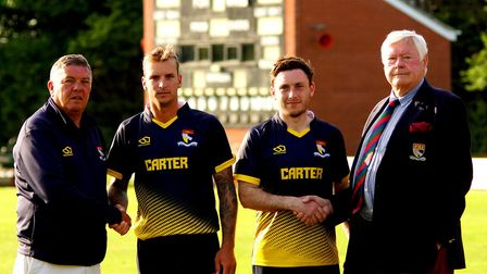 Norfolk's one-day skipper Ashley Watson (second left) and wicketkeeper Sam Groves were both awarded