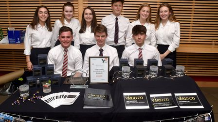 Young Enterprise Trade Fair at the UEA. The Vario Co team from Norwich School.Picture: ANTONY KELLY