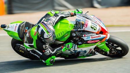 Leon Haslam was flying during practice at Snetterton Picture: Barry Clay