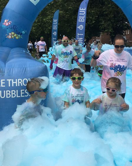 The King's Lynn Bubble Rush in aid of East Anglia's Children's Hospices (EACH). Pictures: EMMA BENST