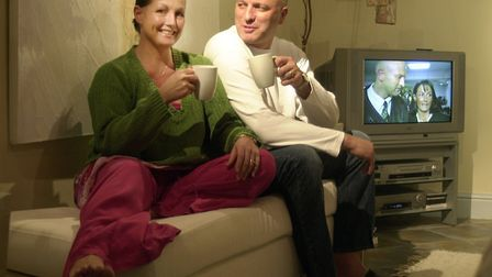 Susan and Bryan Gunn relax at their home back in 2002 - 12 years after the pair were seperated for t