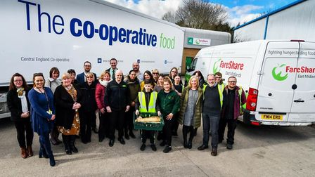 The Central England Co-op and FareShare come together to celebrate the roll-out of the food redistri