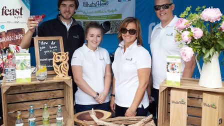 The team from WhataHoot, which launched a brand new gin for Norfolk at the Norwich Food and Drink Fe