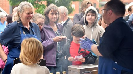 Battle of the Bangers competition at the Norwich Food and Drink Festival. Picture: Nick Butcher