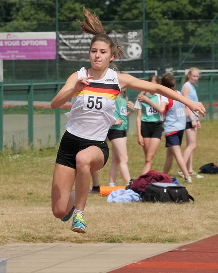 Under 17 triple jumper Eleanor Brown Picture: Tony Payne