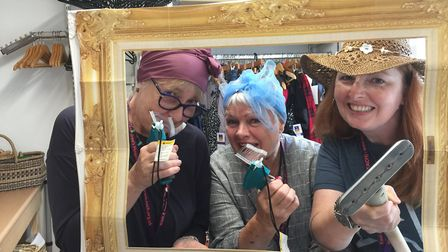 From left - Sue Massey, Marie Griffin and Prudence Gee in the frame Photo: EACH