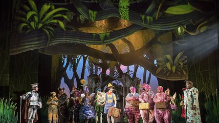 The fairytale cast in Shrek the Musical UK and Ireland tour 2018.Photo: Helen Maybanks