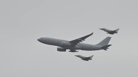 Aircraft rehearsing for the Queen's Birthday Flypast over Norfolk. Picture: Lurchy Myers