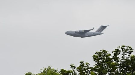 The aircraft over Norfolk today (Image: Lurchy Myers)