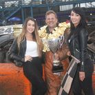 Norwich racer Lee Charke following the successful defence of his 2L Banger World title at King's Lyn