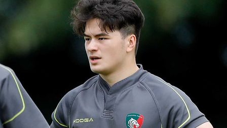 Leicester Tigers academy prospect Andre Dunn. Picture: Leicester Tigers