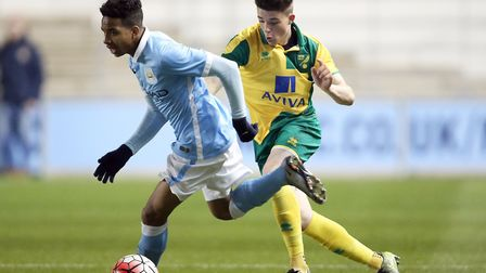 Henry Pollock, pictured in FA Youth Cup quarter-final action at Manchester City in 2016, has joined